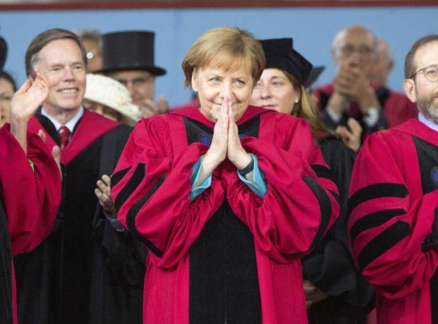 德国总理默克尔哈佛演讲:打破无知与狭隘的思维,一切皆有可能