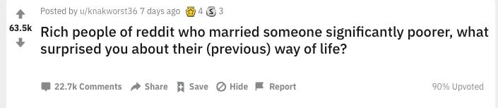 """""""土豪和穷人结婚,会被哪些细节习惯震撼到?"""""""