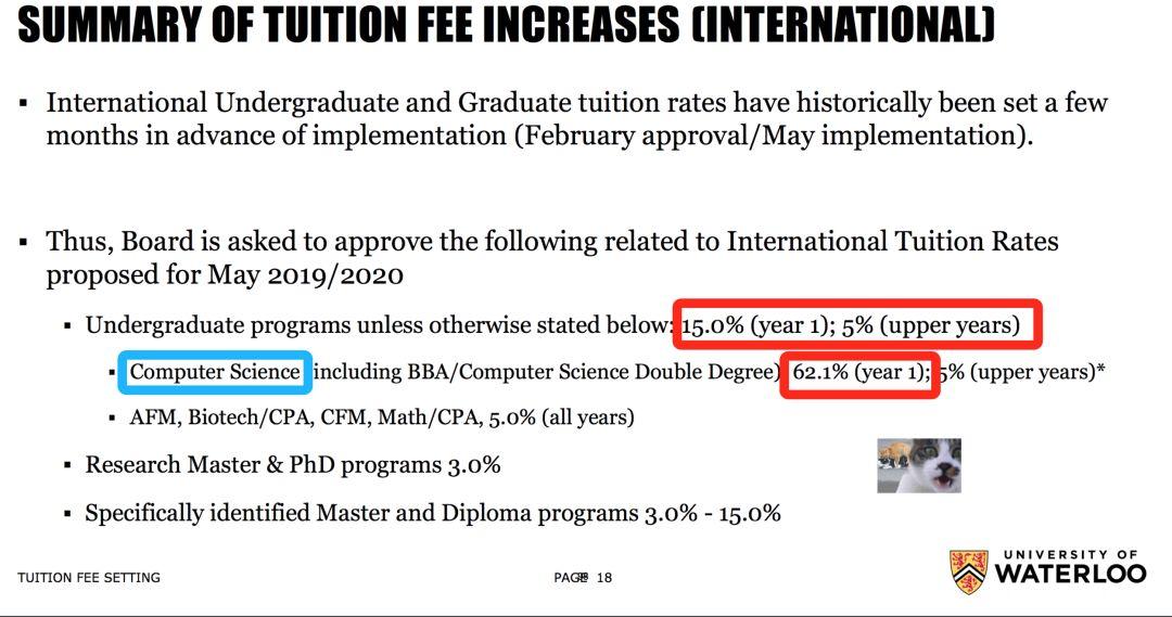 爆料!滑铁卢大学计算机专业留学生学费暴涨62%!以后你很可能上不起滑大了……