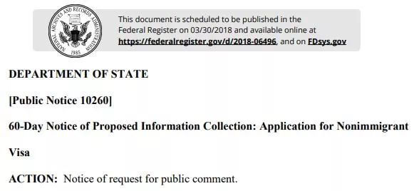 开始执行了!美国签证重大改革!申请签证要5年社媒账号,微博QQ豆瓣全上榜
