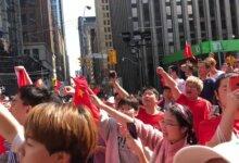 多伦多港人反送中集会遭挺中留学生冲击 爆发冲突-留学世界网