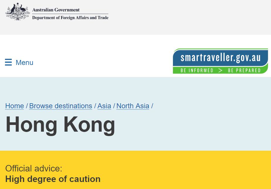 """澳洲政府,正式将香港归为""""高危地区""""!众多华人即将涌上墨尔本CBD街头!面对港独,华人再也忍不住了!"""