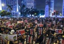 韩国多所大学出现大批支持香港示威标语 引起中国留学生激烈反击-留学世界网