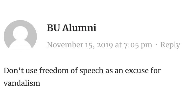 """愤怒!港毒暴徒""""涂鸦""""惊现波士顿大学校园,引留学生众怒"""