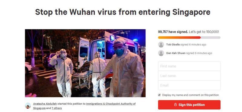 10万人要求新加坡对中国关闭国门!停止让 #武汉肺炎 进入 #新加坡 这个愿望会实现吗?