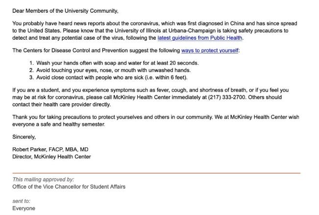 伊利诺伊大学厄巴纳-香槟分校提醒。