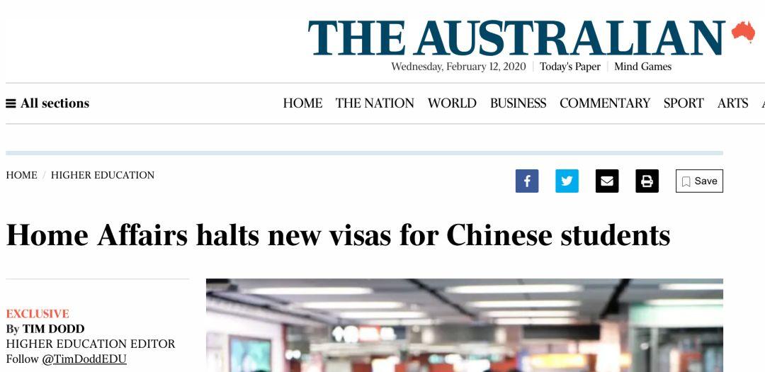 疫情播报 | 停发签证, 禁令延长7天, 10万澳洲留学生噩梦来临