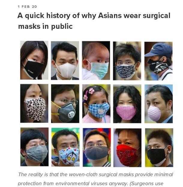 """亚洲人在欧美的""""口罩羞耻"""""""