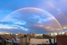 """天意! 疫情拐点下,双虹横贯美国纽约曼哈顿, 真正的""""风雨之后见彩虹""""! COVID-19 #武汉肺炎 #新型冠状病毒 #COVID19 #COVID_19 #CoronaVirusUpdates #COVIDー19 #COVID__19-留学世界网"""