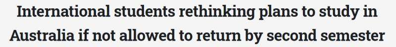 """""""我准备放弃PR回家了!""""疫情加剧种歧,澳洲华人考虑逃回国! 大批留学生放弃返澳:直接换大学!"""