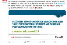 加拿大移民部传来的好消息!加拿大工签学签政策最新变更,利好留学生!-留学世界网