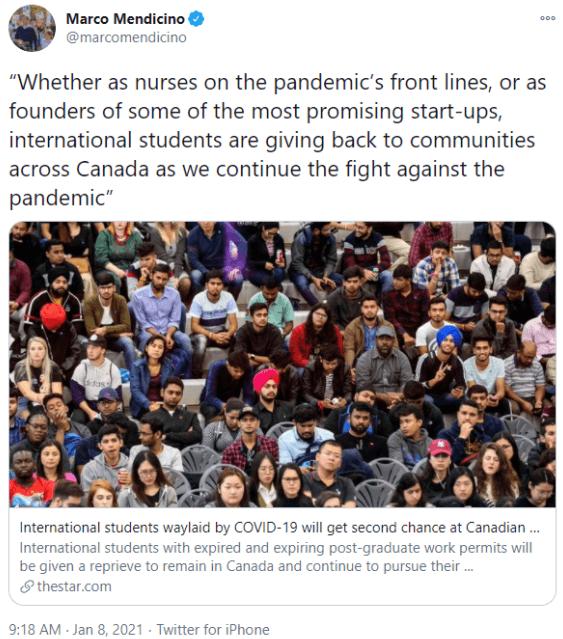 好消息!加拿大宣布国际学生毕业工签可申请延长18个月!